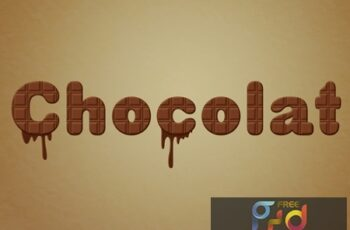 Chocolate Text Effect with Drip Elements 314539846 2