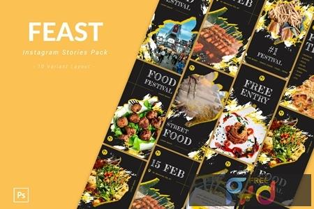 Feast - Instagram Story Pack DHG848N 1