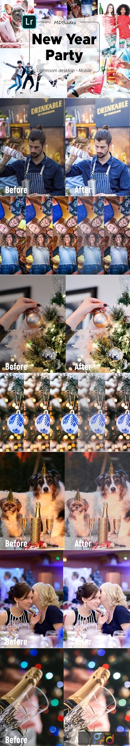 5 Lightroom Presets, New Year Party 4424549 1