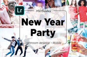 5 Lightroom Presets, New Year Party 4424549 6