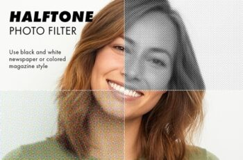 Halftone Photo Filter Effect 315950446 8