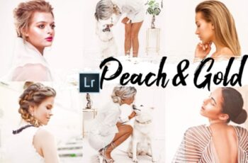 09 Peach & Gold Desktop Lightroom Preset 2536515 2