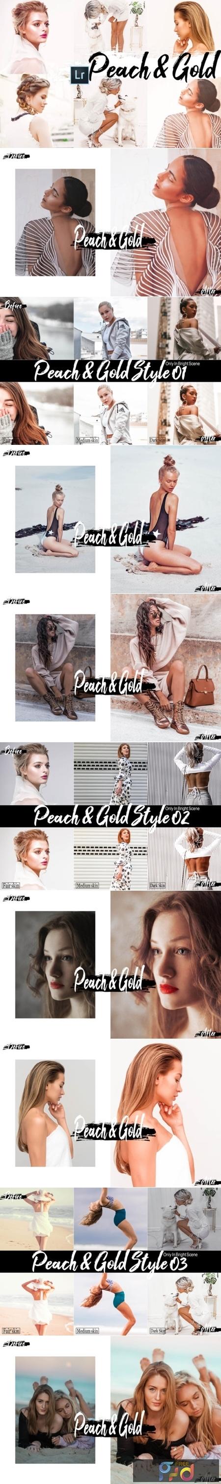09 Peach & Gold Mobile Lightroom Presets 2536514 1