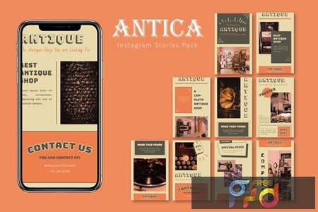 Antica - Instagram Story Pack 22X2R7P 1