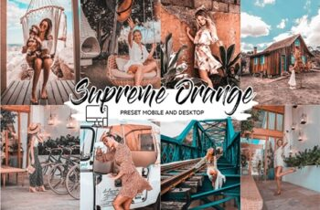 SUPREME ORANGE LIGHTROOM PRESETS 4432960 5