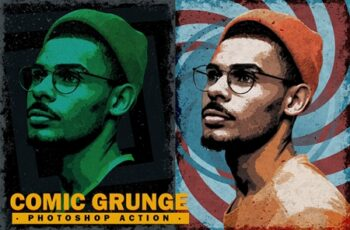 Comic Grunge Photoshop Action 4453582 1