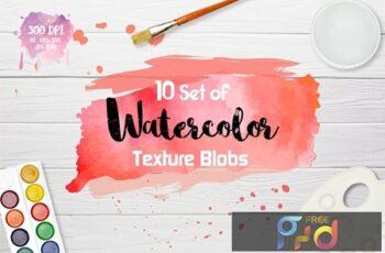 Watercolor Texture Blobs A3K9PEX 3