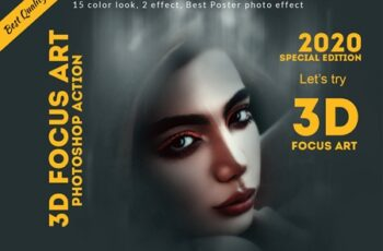 3D Focus Art Effect Photoshop Action 4449686 9