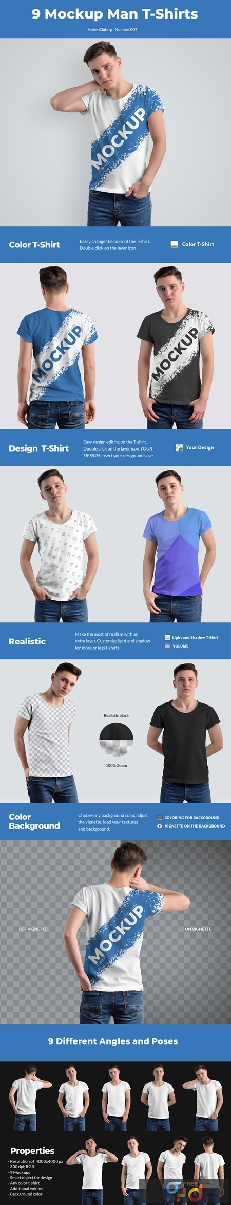 9 Mockups T-Shirts on the Mens 54352 1