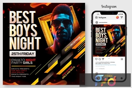Boys Night Party Flyer 4445150 1