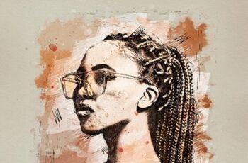Watercolor Sketch - Photoshop Action 25362455 4