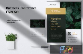 MADDON Botanical Flyer & Business Card F8DXCZ9