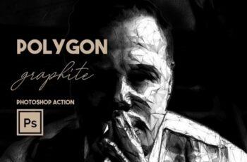 Polygon Graphite Photoshop Action 25389368 5