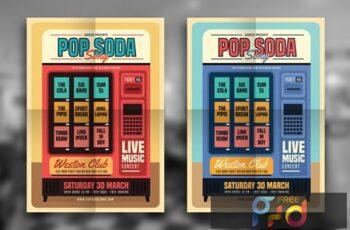 Retro Pop Soda Song Flyer LUMFUSS 2