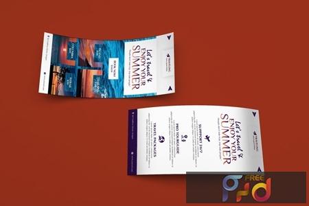 Travel DL Rackcard PSD Template PP98JMD 1