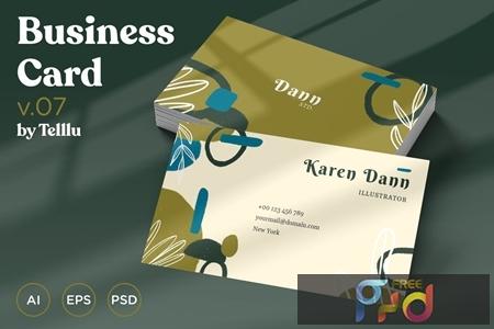Business Card v.07 Cutouts Style FAQX4ZC 1