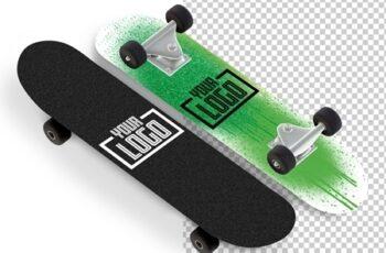 2 Skateboard Mockups Isolated on White 263060991 6