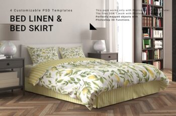 Bed Linen with Tailored Bed Skirt 3950962 3