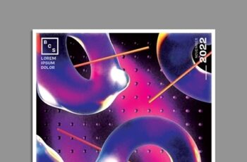 Abstract Retro Futuristic Poster Layout 317119490 6