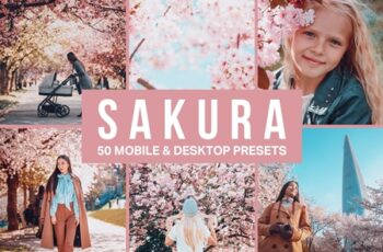 50 Sakura Pink Lightroom Presets and LUTs 4498892 4