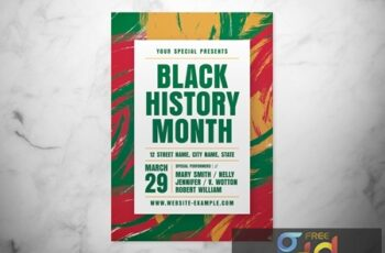 Black History Month Event Flyer Layout with Abstract Background 317318625 2