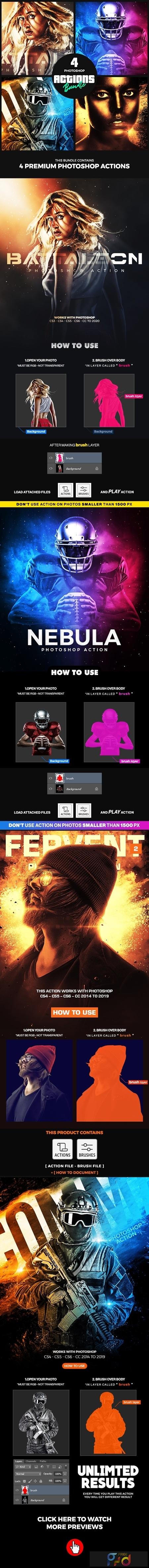 4 Photoshop Actions Bundle - Jan20 25603131 1