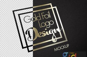 Gold Foil Logo Texture Mockup 317321915 6