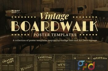 Vintage Art Deco Boardwalk Poster Templates UPX3EC2 8