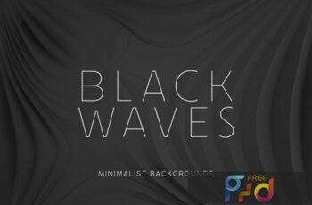 Black Minimalist Wave Backgrounds 2 RPUS8UP 4