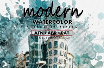 Modern Watercolor Photoshop Action 25435037 6