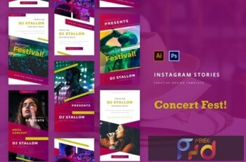 Concert Instagram Story Template DDJD46C 3