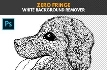 Zero Fringe White Background Remover - Photoshop Action 25428146 3
