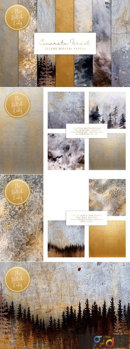 Digital Backgrounds - Concrete Forest 2654635 1
