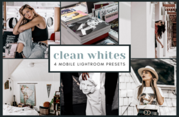 4 Mobile Lightroom Presets - Clean White 2651993 2