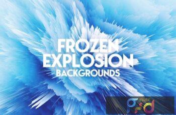 Frozen Explosion Background Set 7MFQQTY