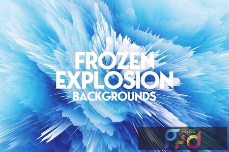 Frozen Explosion Background Set 7MFQQTY 1