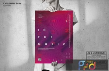 Modern Wavy Poster Design - Music Event UFVEQN5 2