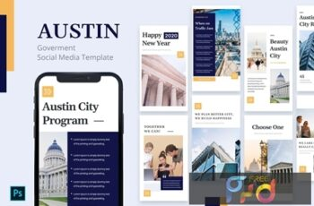 Austin - Government Instagram Story Template 7ZB5QEN 7