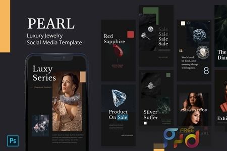 Pearl - Jewelry Instagram Story Template 8F62GFY 1