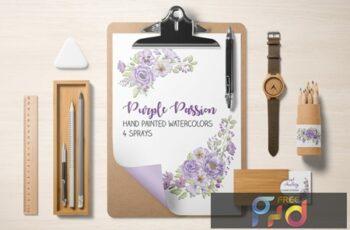 Purple Passion Watercolor Sprays 89P2W3U 3
