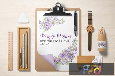 Purple Passion Watercolor Sprays 89P2W3U 1