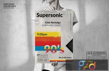 Supersonic 90s Big Poster Design - Music Event G5H23DA 4