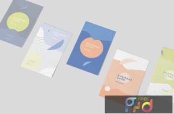 Vertical Business Card Mock-ups JLSBHM9 10