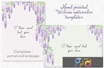 Wisteria Blooms Card or Page Templates H5K6Q68 1