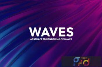 Abstract 3D Rendering of Waves ZCK7JA4 6
