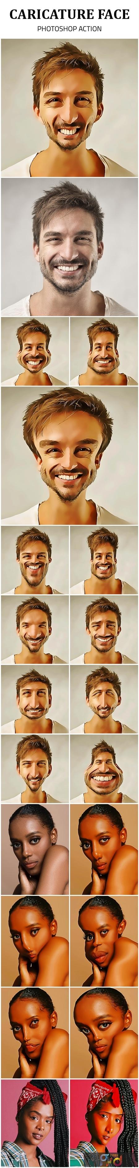 Caricature Face Photoshop Action 25590885 1