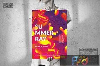Summer Ray Party Big Poster Design W592KUM 5