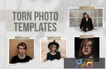 Torn Photo Templates EG56C99 2