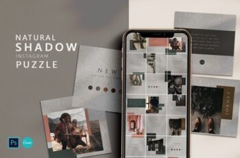 Shadow Instagram Puzzle - PS & Canva 4458448 3