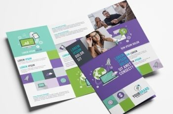 Purple and Green Trifold Brochure Layout 319811489 16